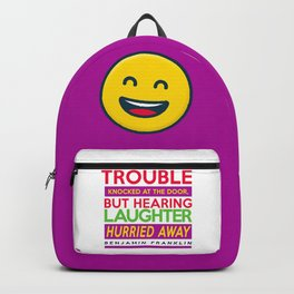 Laughter Quote Backpack