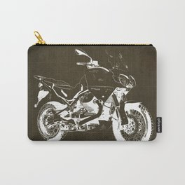 2010 Moto Guzzi Stelvio 1200 4V brown blueprint Carry-All Pouch