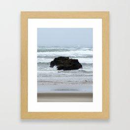Beach Rock Framed Art Print