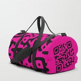 QR Clothes Magenta Duffle Bag