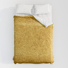 Crinkled Gold Foil Texture Christmas/ Holiday Comforters