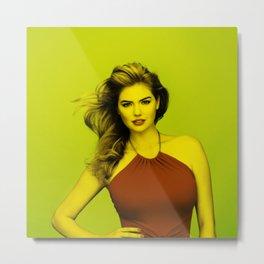 Kate Upton - Celebrity (Florescent Color Technique) Metal Print
