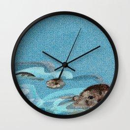 Swiming Otters (c) 2017 Wall Clock