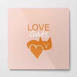 Love cats Metal Print