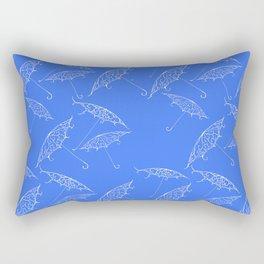 Blue Summer Beach Bliss Rectangular Pillow