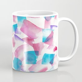 180719 Koh-I-Noor Watercolour Abstract 27| Watercolor Brush Strokes Coffee Mug
