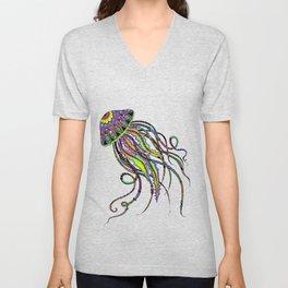 Electric Jellyfish Unisex V-Neck
