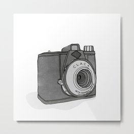 Vintage Analog Camera - Agfa Clack (B&W Edition) Metal Print