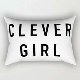 Clever Girl Rectangular Pillow