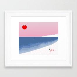 Snow//Beach Framed Art Print