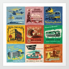 WES ANDERSON MATCHBOOK SERIES Art Print