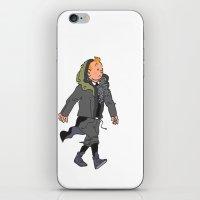 tintin iPhone & iPod Skins featuring Goth Ninja Tintin by Derek Boman