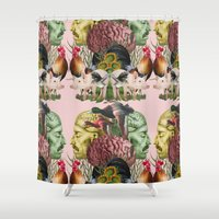 anatomy Shower Curtains featuring ANATOMY: FARM by MANDIATO ART & T-SHIRTS