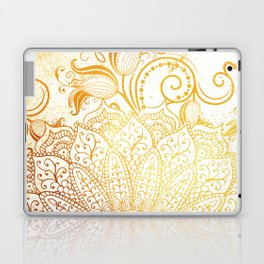 Golden brush Laptop & iPad Skin