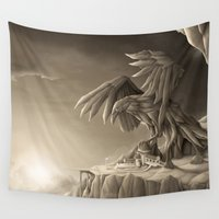 titan Wall Tapestries featuring Revenge of the Nature XIII: Guardian of the Air by Rafapasta