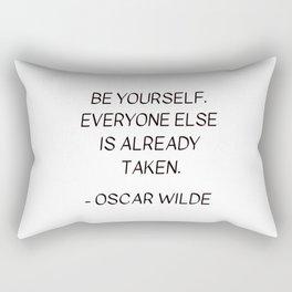 BE YOURSELF - OSCAR WILDE Rectangular Pillow