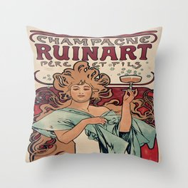 Vintage poster - Champagne Ruinart Throw Pillow