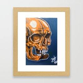 Skull Oil Painting  Framed Art Print