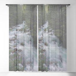 Nooksack River - Pacific Northwest Sheer Curtain