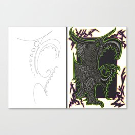 Scribble Drawing: Squawk! Canvas Print