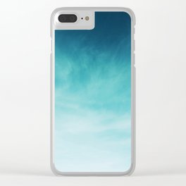 Magical Blues Clear iPhone Case