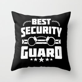 Funny Best Security Guard Handcuff Job Gift Throw Pillow