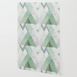 MINT TEAL GRAY CONCRETE abstract Wallpaper