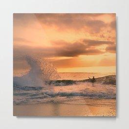 Autumn Wave Metal Print