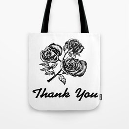 Thank You Roses Tote Bag