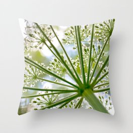 Delicate cow parsley Throw Pillow