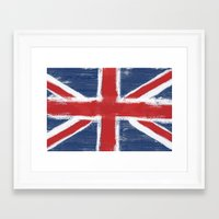 uk Framed Art Prints featuring UK by Justified
