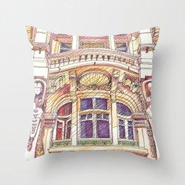 architecture.avenida duque d'ávila.lisbon Throw Pillow