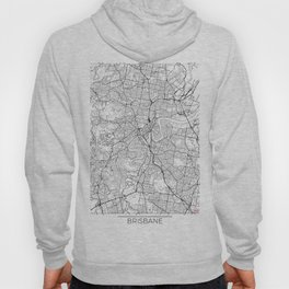 Brisbane Map White Hoody