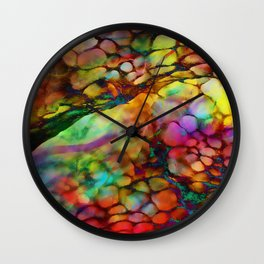Colored Tafoni 3 Wall Clock