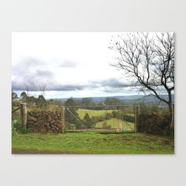 Country Gate Canvas Print