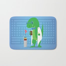 Dinosaur Scientist Bath Mat
