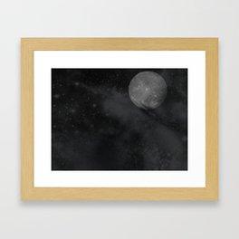 Up The Moon Framed Art Print
