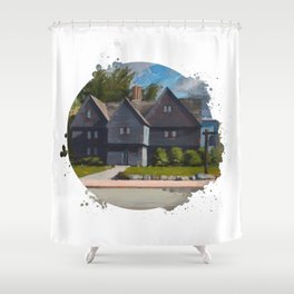 The Witch House by Kevin Kusiolek Shower Curtain