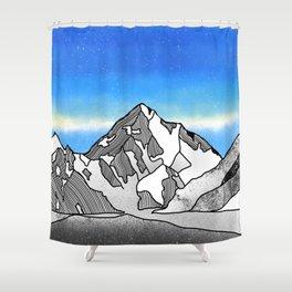 K2 MOUNTAIN LANDSCAPE Shower Curtain