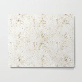 Gold Marble Mine Stone Metal Print