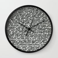 word Wall Clocks featuring Word by Abstractink82