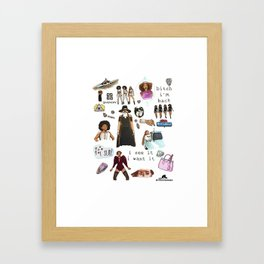 Queen Bey Formation Tribute Framed Art Print