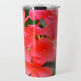 Red blossom pattern Travel Mug