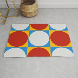 Dots on Checkerboard Rug