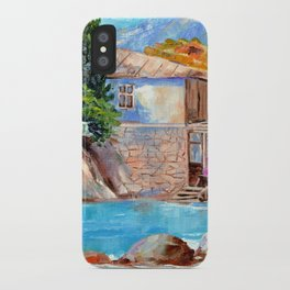 House by the sea iPhone Case