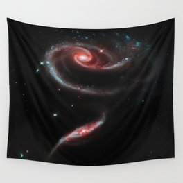 Rose of Galaxies Wall Tapestry