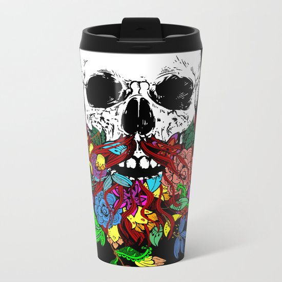 Beardtanical Metal Travel Mug