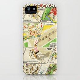 Tour de France Comic Book iPhone Case