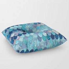 SUMMER MERMAID DARK TEAL Floor Pillow
