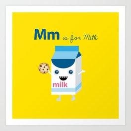 M is for Milk Art Print